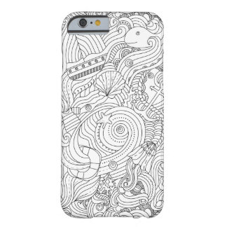 Griffonnage nautique coque barely there iPhone 6