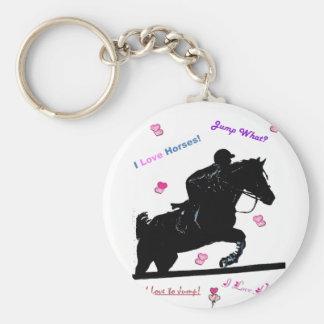 Griffonnages de cheval porte-clé rond