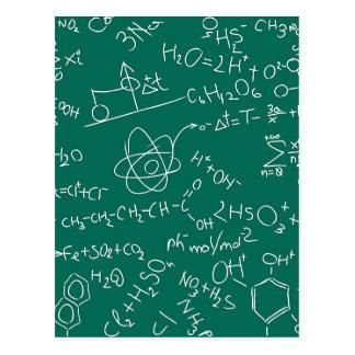 Griffonnages de chimie carte postale