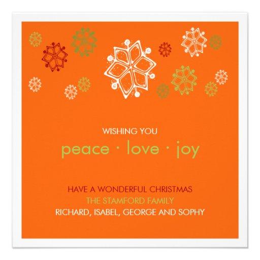 Griffonnages de flocon de neige de Noël : : Carte  Invitations Personnalisées