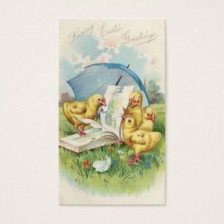 Griffonnages de vacances vintages de Pâques mini Cartes De Visite