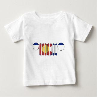 gril 7-Slot T-shirt Pour Bébé