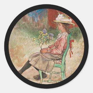 Gril de Dagmar dans le jardin Sticker Rond