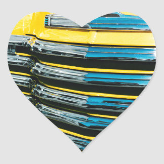 Gril jaune sticker cœur
