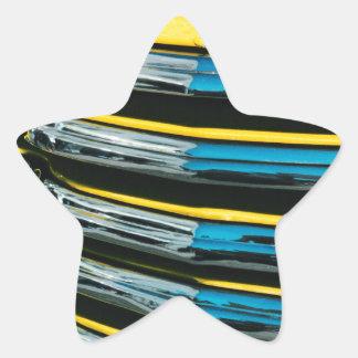 Gril jaune sticker étoile
