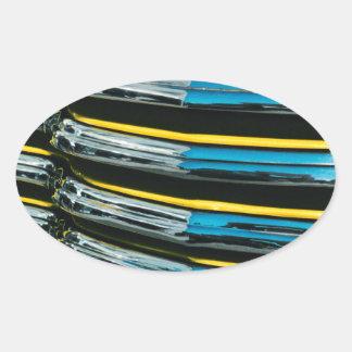 Gril jaune sticker ovale