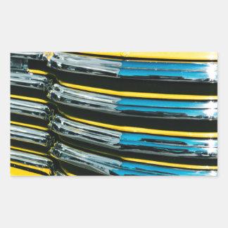 Gril jaune sticker rectangulaire