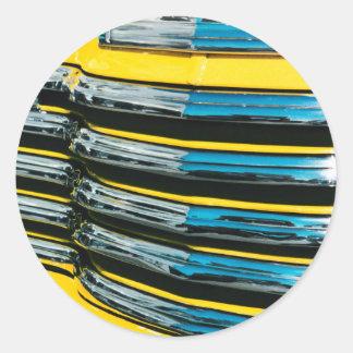 Gril jaune sticker rond