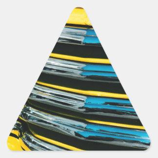 Gril jaune sticker triangulaire