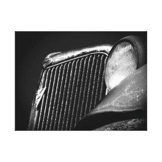 Gril vintage noir et blanc de voiture toiles