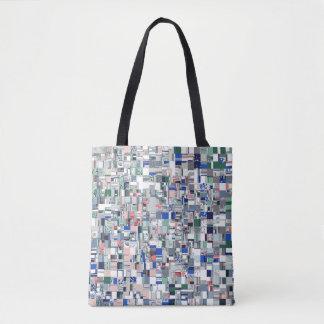 Grille géométrique de couleurs sac