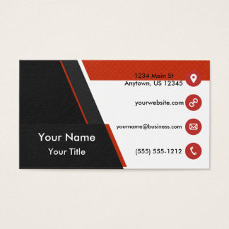 Grille orange noire cartes de visite