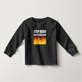 Griller arrière de papa d'étape t-shirt pour les tous petits