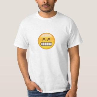 Grimacerie du visage avec les yeux de sourire t-shirt