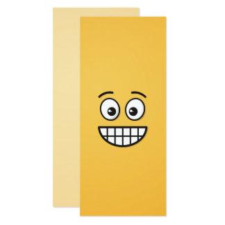 Grimacerie du visage avec les yeux ouverts carton d'invitation  10,16 cm x 23,49 cm