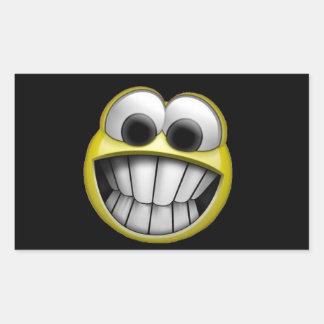 Grimacerie du visage souriant heureux autocollants