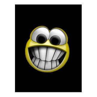 Grimacerie du visage souriant heureux carte postale