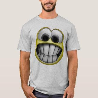 Grimacerie du visage souriant heureux t-shirt