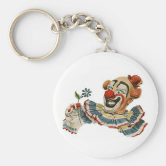 Grimaces de clown à la fleur - porte - clé porte-clés