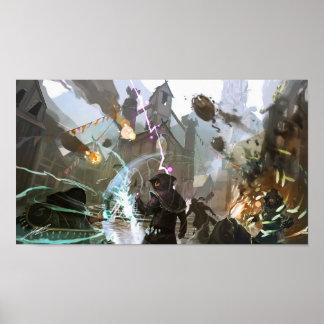 Grimoire : Art de concept de Manastorm - bataille Poster
