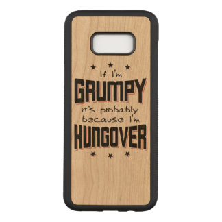 GRINCHEUX parce que HUNGOVER (noir) Coque En Bois Samsung Galaxy S8 Plus