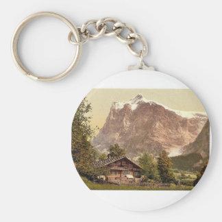 Grindelwald, chalet et bâti Wetterhorn, Bernese Porte-clé Rond