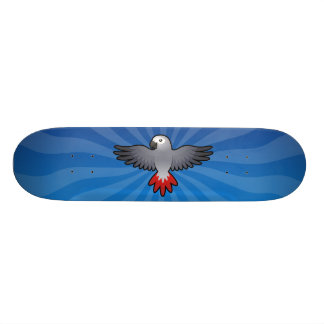 Gris africain de bande dessinée/Amazone/perroquet Skateboard Customisable