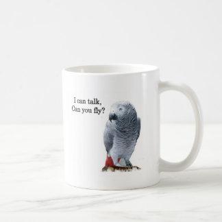 Gris africain que je peux parler pouvez-vous vole mug