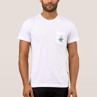 Gris américain de mousse de mer de t de poche de t-shirt
