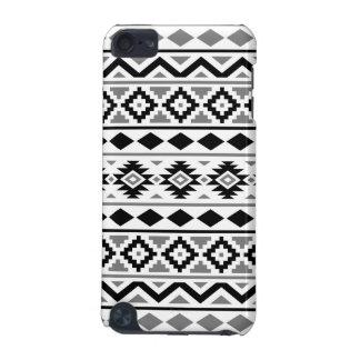 Gris blanc noir du motif III aztèque d'essence Coque iPod Touch 5G