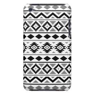 Gris blanc noir du motif III aztèque d'essence Étuis iPod Touch