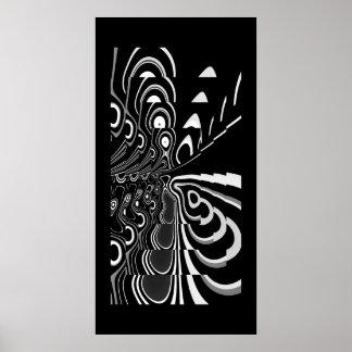 Gris blanc noir ultra moderne abstrait d'affiche d poster
