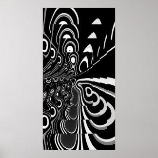 Gris blanc noir ultra moderne abstrait d'affiche d posters