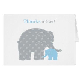 Gris bleu-clair de la carte de note de Merci