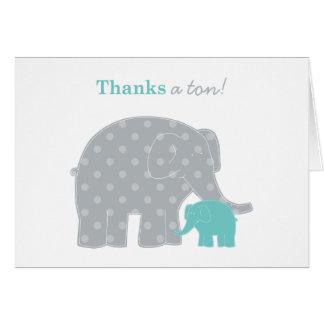 Gris bleu d'Aqua de la carte de note de Merci