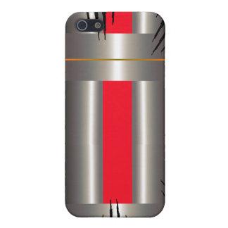 Gris bleu rouge iPhone 5 case