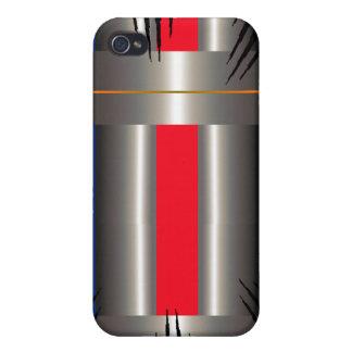 Gris bleu rouge coque iPhone 4