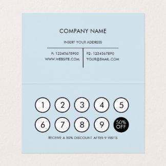Gris-clair minimaliste moderne de fidélité carte de visite