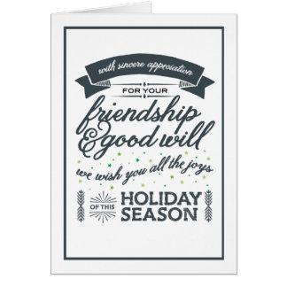 Gris d'amitié carte de vœux