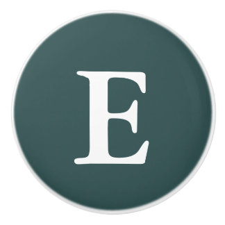 Gris d'ardoise foncé décoré d'un monogramme