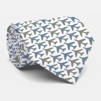 Gris d'Armani de cravate d'avion sur le blanc