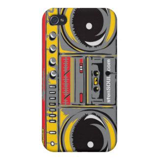 GRIS de cas d'EYEPhone 4 de caisson de basses Étui iPhone 4