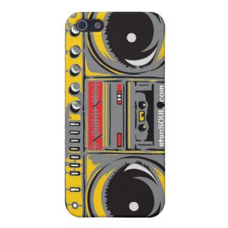 GRIS de cas d'EYEPhone 4 de caisson de basses Étui iPhone 5