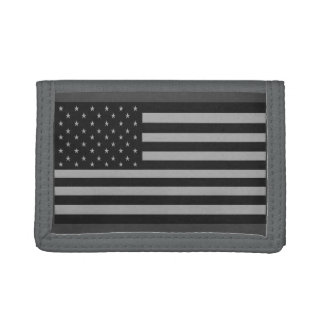 Gris de portefeuille de Camo de drapeau américain
