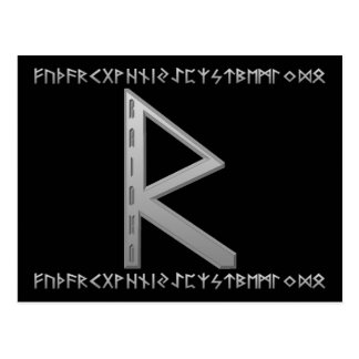 Gris de Raidho Rune Cartes Postales