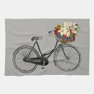 Gris de vélo de fleur de bicyclette de serviette