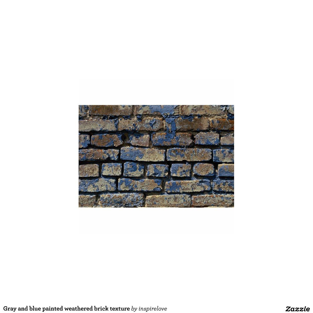 gris et texture patin e de brique peinte par bleu photo en d coupe zazzle. Black Bedroom Furniture Sets. Home Design Ideas