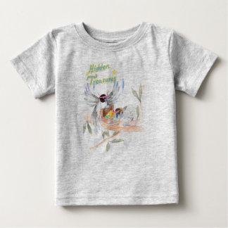 """Gris fin """"caché de T-shirt du Jersey de bébé de"""