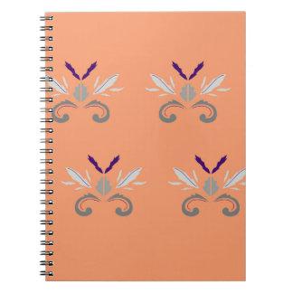 Gris orange d'ornements de luxe carnet