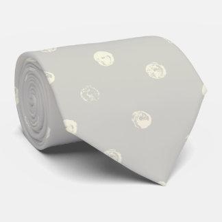 Gris pâle avec les points jaune pâle cravate